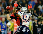 Donta Hightower New England Patriots Signed 8x10 Photo 4th Qtr Strip Sack JSA
