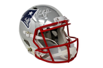 Randy Moss New England Patriots Signed Full Size Chrome Speed Helmet JSA