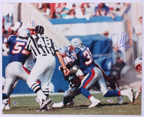 Lawyer Milloy New England Patriots Signed Autographed Tackle 16x20 Photo