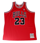 Michael Jordan Chicago Bulls Signed Authentic Mitchell & Ness Red Jersey UDA