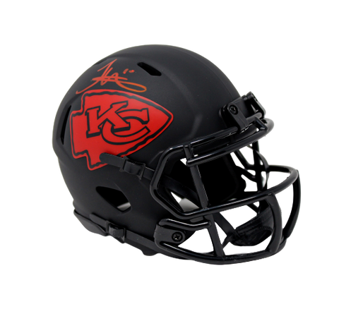 Tyreek Hill Kansas City Chiefs Signed Authentic Eclipse Mini Helmet JSA Witness