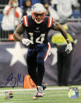 Mohamed Sanu New England Patriots Signed 16x20 Photo Color Rush JSA