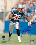 Lawyer Milloy New England Patriots Signed 8x10 Photo Blue Jersey Pats Alumni