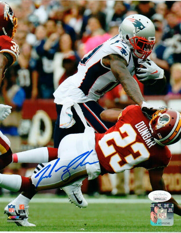Josh Gordon New England Patriots Signed 8x10 Photo Stiff Arm vs Redskins JSA