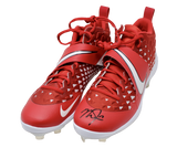 Mike Trout Los Angeles Angels Signed Real Game Issued Cleats MLB Authentic Red