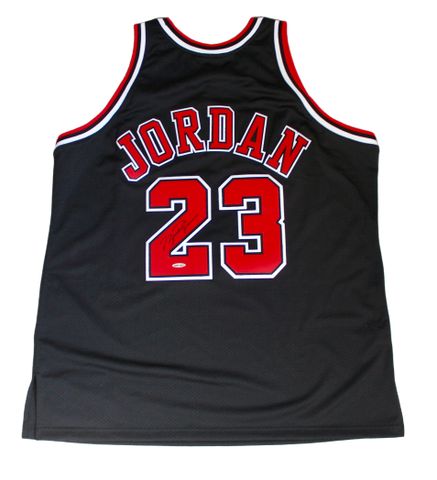 Michael Jordan Chicago Bulls Signed Authentic Mitchell & Ness Black Jersey UDA