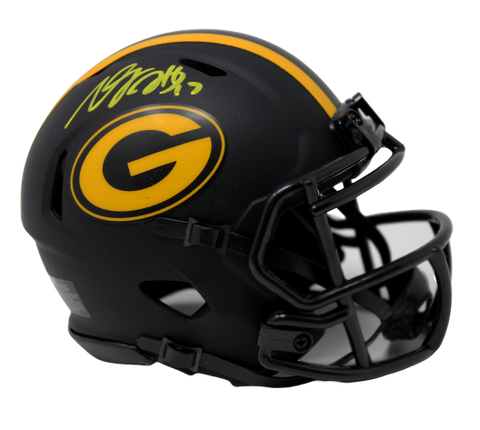 Devante Adams Green Bay Packers Signed Authentic Eclipse Mini Helmet JSA