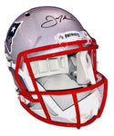 Julian Edelman New England Patriots Signed Autographed Replica Speed Helmet JSA