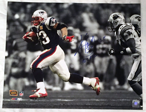 Kevin Faulk New England Patriots Signed Autographed Spotlight 16x20 Photo