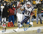 David Givens New England Patriots Signed Autographed AFC Championship 8x10 Photo