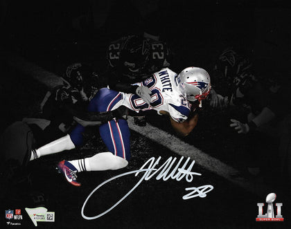 James White New England Patriots Signed Spotlight 16x20 Photo GW TD FANATICS