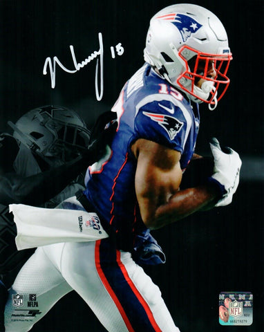 N'Keal Harry New England Patriots Signed 8x10 Photo Spotlight 1st Touchdown JSA