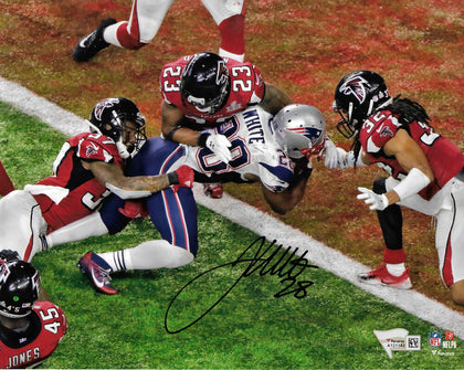 James White New England Patriots Signed Super Bowl 16x20 Photo GW TD FANATICS