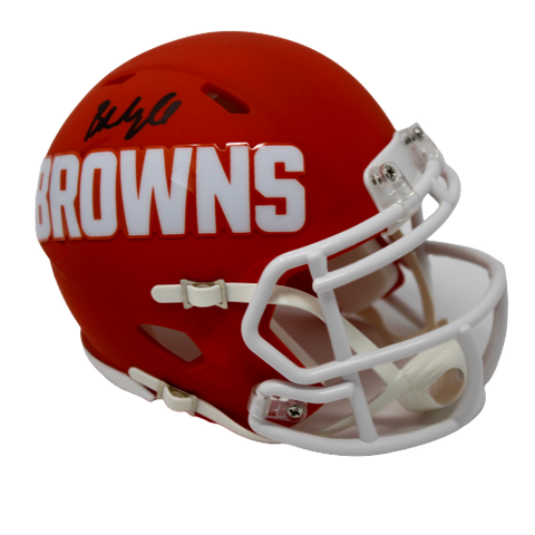 Baker Mayfield Cleveland Browns Signed Mini AMP Speed Helmet BAS Beckett