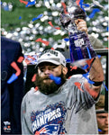 Julian Edelman New England Patriots Signed SB LIII MVP Trophy 16x20 Photo JSA