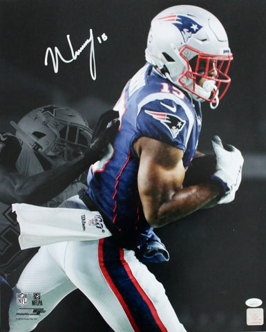 N'Keal Harry New England Patriots Signed 16x20 Photo Spotlight 1st Touchdown JSA