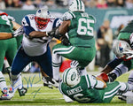 Vince Wilfork New England Patriots Signed 16x20 Photo Butt Fumble Pats Alumni