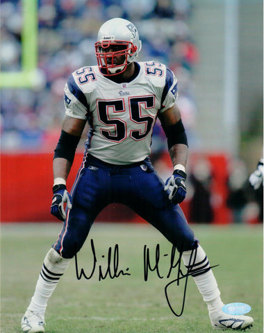 Willie McGinnest New England Patriots Signed Autographed 8x10 Photo