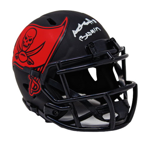 "Antonio Brown Tampa Bay Buccaneers Signed ""Boomin"" Mini Eclipse Speed Helmet JSA"