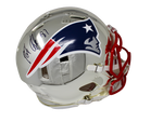Rob Gronkowski New England Patriots Signed Full Size Authentic Chrome Helmet JSA