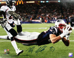 Rob Gronkowski New England Patriots Signed Autographed Catch 16x20 Photo JSA
