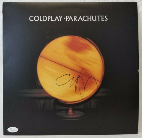 Chris Martin Coldplay Signed Autographed Parachutes Album Cover Vinyl Record JSA