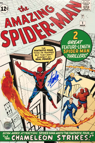 Stan Lee Signed Autographed Amazing Spiderman 12x18 Marvel Comics STAN LEE HOLO