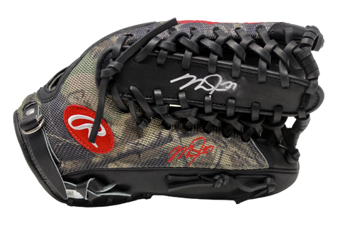 Mike Trout LA Angels Signed Real Game Issued Rawlings Fielding Glove MLB Auth
