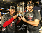 Alex Cora/Nathan Eovaldi Boston Red Sox Dual Signed World Series 16x20 Photo JSA