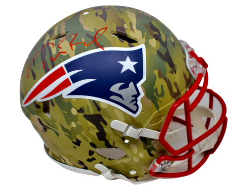 Tom Brady New England Patriots Signed Camo Speed Authentic Helmet Fanatics