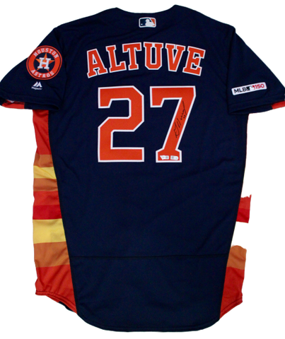 Jose Altuve Houston Astros Signed Autograph Nike Authentic Jersey Fanatics/MLB