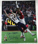 Chris Hogan New England Patriots Signed Autographed SB LI Champs 16x20 Photo JSA