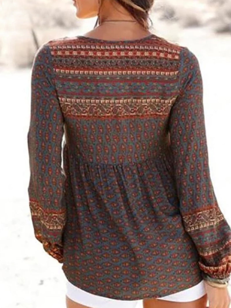 Bohemian Women Holiday Fall Daily Casual Tops