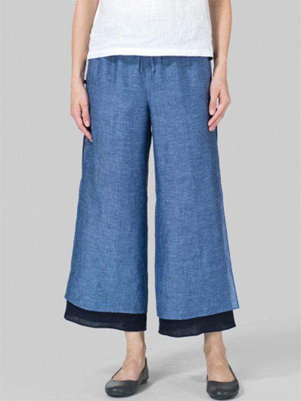 Casual Cotton Pants Plus Size Casual Wide Leg Linen Pants