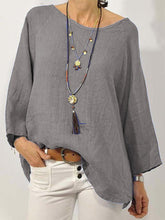 Load image into Gallery viewer, Casual Plus Size  Solid Long Sleeve Tops