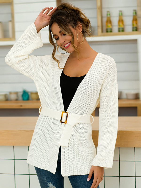 Loose Belt Cardigan