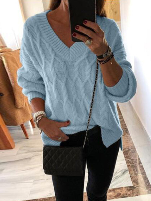 Loose V-Neck Sweater