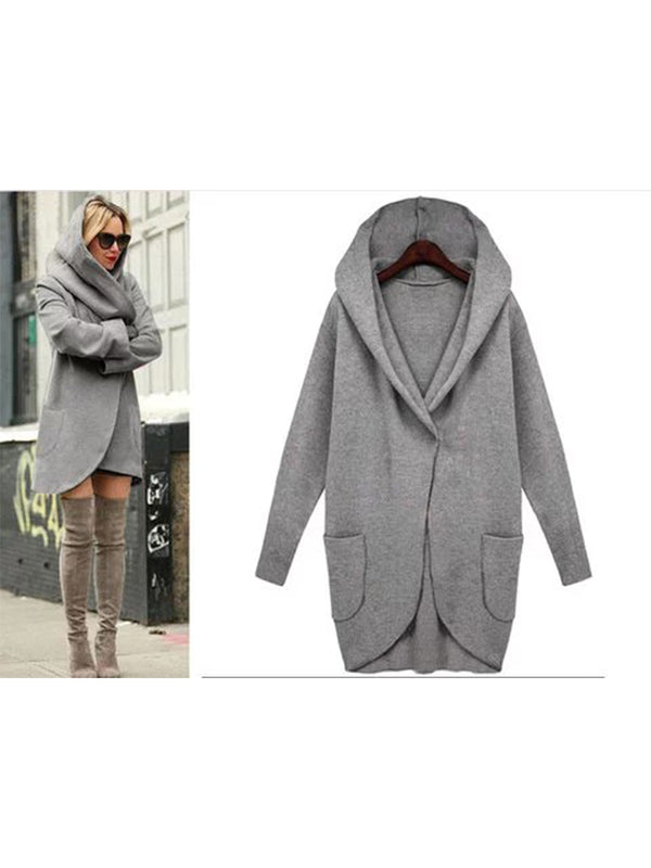 Fall&Winter Long Sleeve Loose Hoodie Pocket Outwear