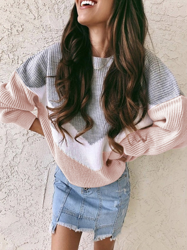 Autumn And Winter Thin Round Neck Long Sleeve Sweater