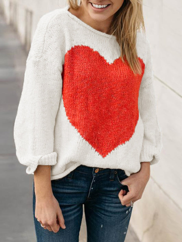 Autumn And Winter Love Sweater