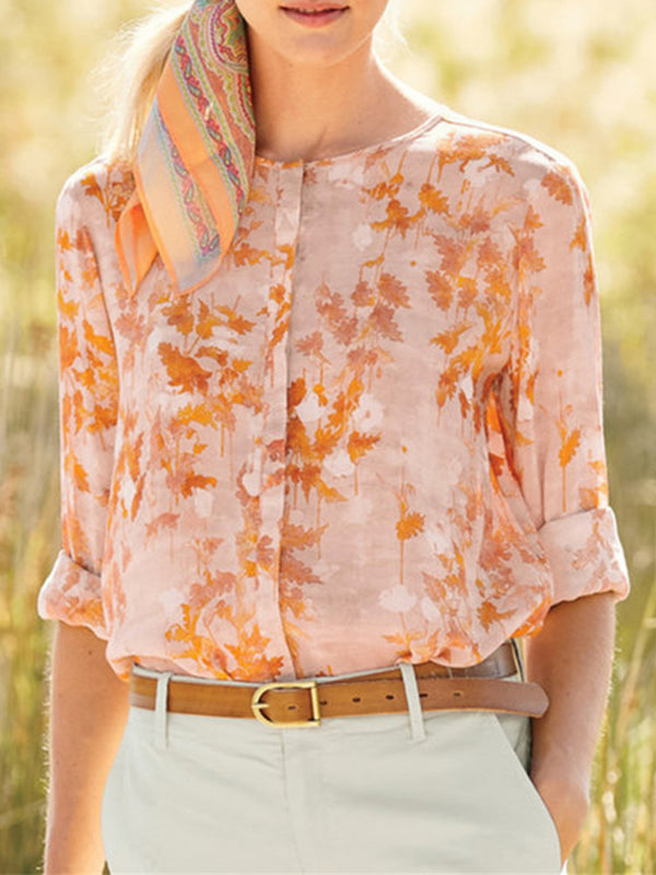 Summer Print Long Sleeve Shirt