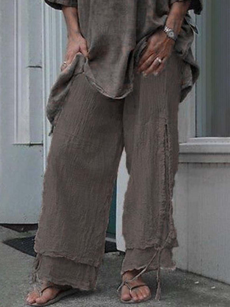 Linen Women Pants Casual Solid Pants
