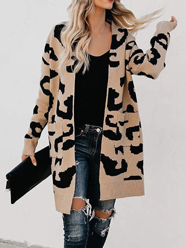 Autumn Color Leopard Print Jacket