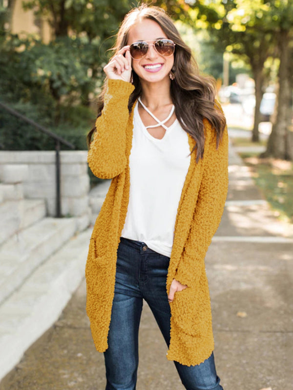 Long Sleeve Cardigan Pocket Sweater Coat