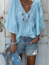 Load image into Gallery viewer, V Neck Casual  Loose Blouse