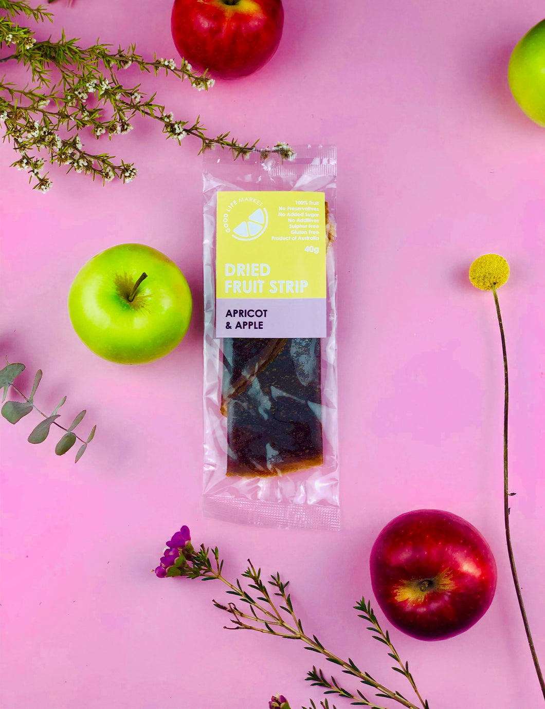 Apricot & Apple Dried Fruit Strip