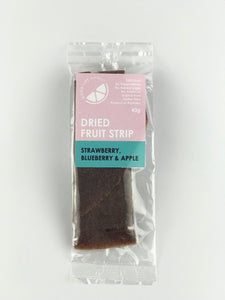 Strawberry, Blueberry & Apple Dried Fruit Strip