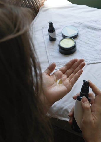 Testing various beauty products