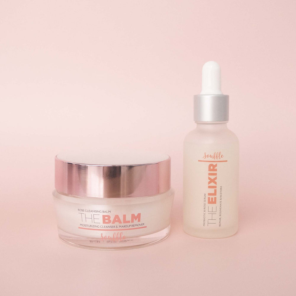 Souffle Beauty Cleansing Balm and Probiotic Serum Elixir Bundle