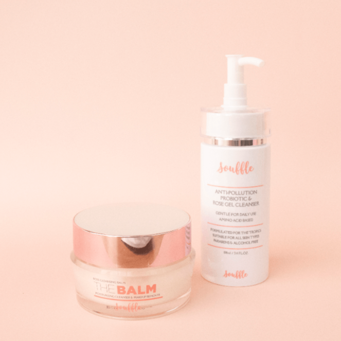 Double Cleanse Holy Grail Souffle Beauty Balm and Prebiotic Cleanser